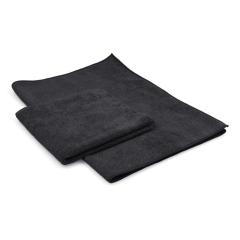 Microfibre cloth Maxi Soft 40 x 85 cm black (2 pieces)
