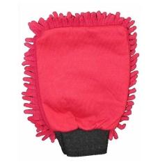 Washing Glove Microfibre Rasta Red