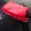 Washing Glove Microfibre Rasta Black
