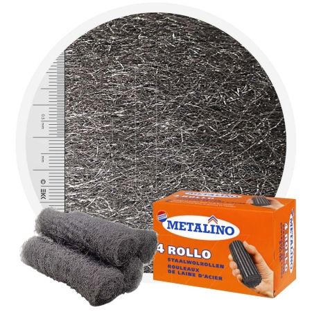 Metalino Steel wool rolls - 4 rolls