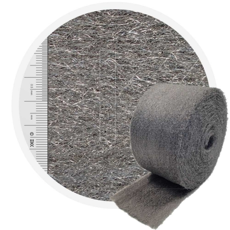 Stainless Steel Wool 1.4113 fleece normaal 200 mm - 70 μm, ± 850 gr/m2