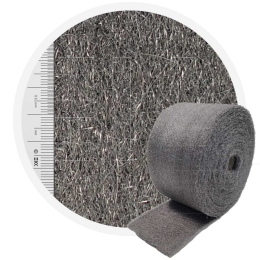 Stainless Steel Wool 1.4113 crossed 200 mm - 70 μm, ± 1000 gr/m2