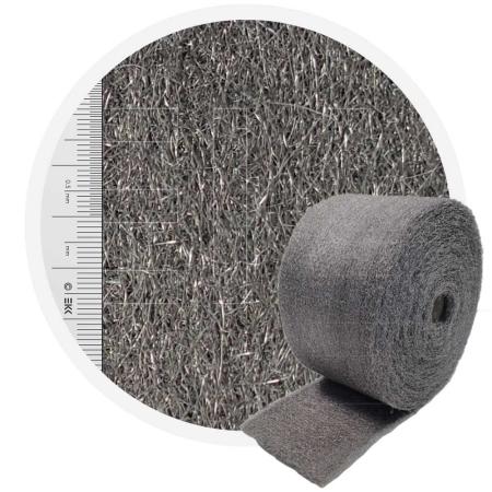 Stainless Steel Wool 434 crossed 200 mm - 70 μm, ± 1000 gr/m2